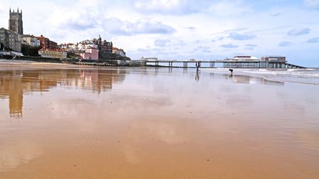 Wednesday afternoon the sun came out and helped show off Cromer Beach and Front off at its best