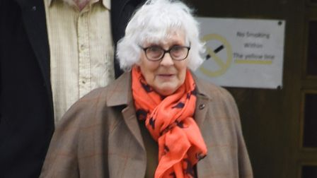 Rosemary Fabb leaving Norwich Magistrates Court. Picture: DENISE BRADLEY