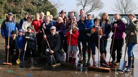 Parishioners from St Agnes Church, Cawston, came together at Cawston Church of England Primary Acade