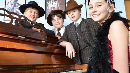 From Left: Dandy Dan (James Shorten), Fat Sam (Ted Lake), Bugsy (Nathan Norfield) and Blousey (Aurel