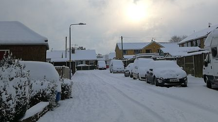 Cawston covered in snow. Stocks Loke. Picture: DONNA-LOUISE BISHOP