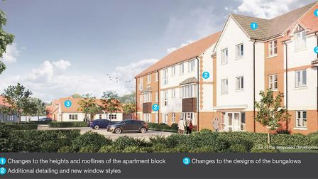 Amended CGI - Stalham retirement homes. Picture: BECG.com