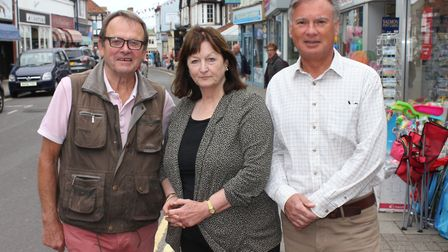 Pedestrianisation working party members (from left): North Norfolk District Council chairman Richard