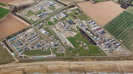 Bacton gas terminal from the air. Picture; MIKE PAGE