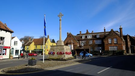 An anti-austerity group will be demonstrating outside the war memorial in Holt. Picture: MARK BULLIM