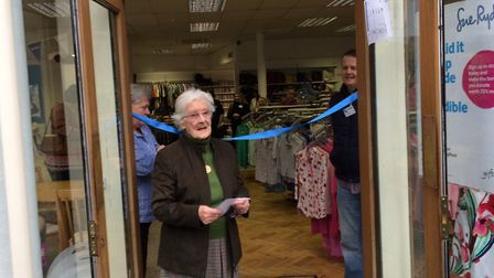 Thelma Yates officially opens the new Sue Ryder shop in Cromer. Pictures: David Bale