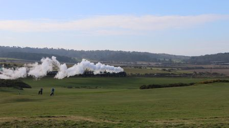This lovely view was from the golf course looking over to Weybourne made even better by the smoke fr