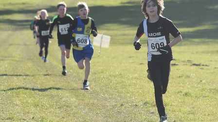 Runners in the Juniors race of the Hunny Bell Cross Country 2018, at the Stody Estate. Picture: DENI