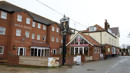 The historic Mundesley Royal Hotel has been hit with a zero food hygiene rating. Picture: Mark Bulli
