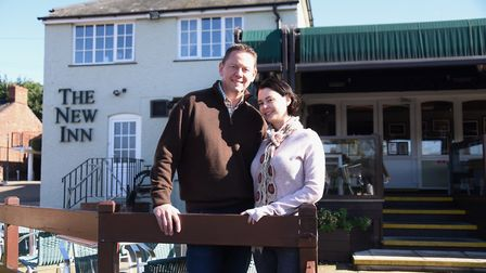 Mark and Kim Stockley at the New Inn at Horning last year. Picture: DENISE BRADLEY