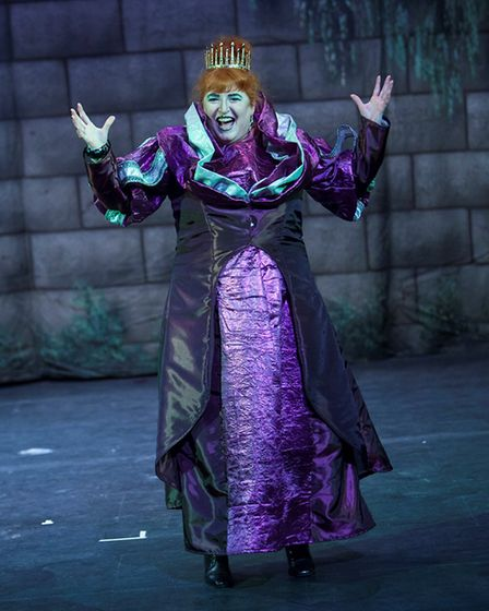 Chrissie Robertson as a panto baddie. Pictures: Andreas Yiasimi