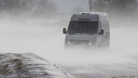 A van slowly making its way down the B1145. Picture: Christon Iliffe