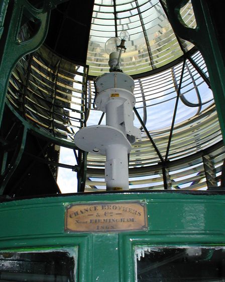 Happisburgh lighthouse, internal with optic around the light. Pictures: Patrick Tubby