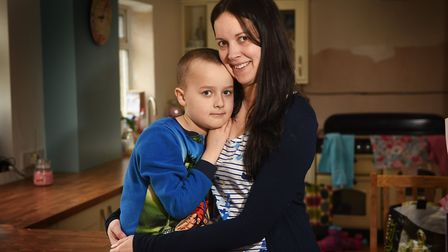 Harry Addy, pictured with his mum Melanie last year. Picture: ANTONY KELLY