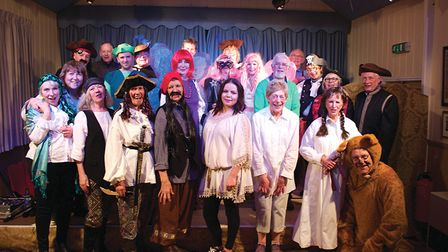 The cast of Peter Pan in Overstrand. Picture: Bruce Stratton