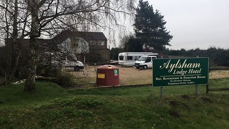Travellers have been reported on the site of the former Aylsham Lodge Hotel. Picture: ARCHANT STAFF
