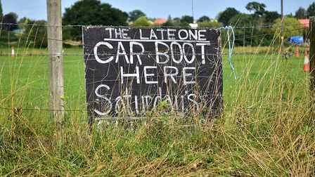 Site of 'The Late One' car boot sale at Aylsham.Picture: ANTONY KELLY