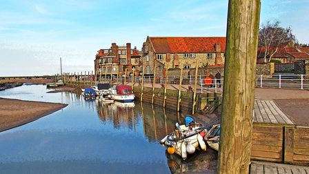 Blakeney Quay in the late Sunday afternoon sunshine. Photo: Peter Dent