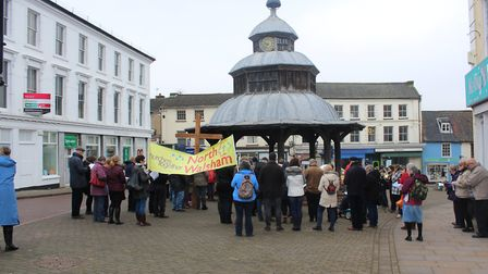 Good Friday Walk of Witness by members from the North Walsham Churches Together. Pictures: Sandra To