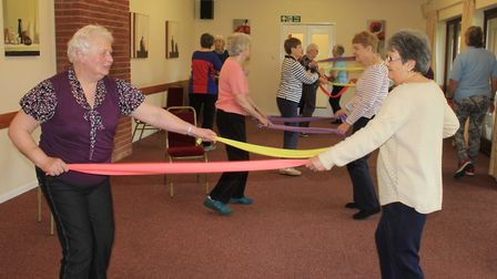 A Life Balance exercise class run by Excel 2000, which is appealing for public support for its £35,0