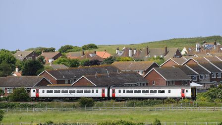 An Abellio Greater Anglia Train travelling the Bittern Line into Sheringham.Picture: MARK BULLIMORE