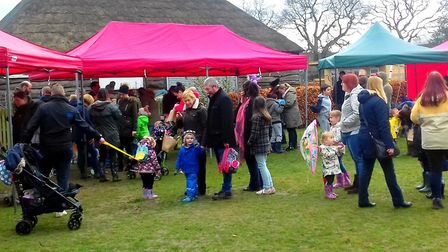 Children enjoyed an Easter Egg Hunt at North Walsham Memorial , organised by North Walsham Play. Pic