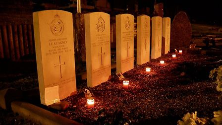 The graves in France. Pictures: Supplied by Patrick Kearney