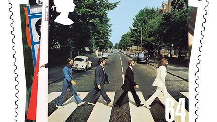 Abbey Road in Sheringham could be one suggestion. This picture shows special stamps showing the Beat
