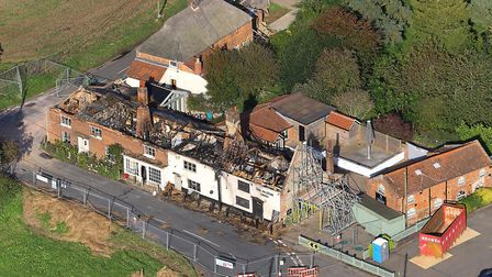 Aerial view of the Ingham Swan after the blaze in September. Picture: Mike Page