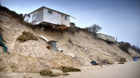 Houses destoryed by erosion in Hemsby. Picture: ANTONY KELLY