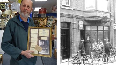 Richard Leeds at Randalls of Cromer, which has closed down after 137 years in the town. In the frame