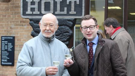Official opening of the Holt Owl Trail with Duncan Baker on right. Pictures: supplied by Duncan Bake