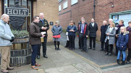 Official unveiling of the Holt Owl Trail. Pictures: supplied by Duncan Baker