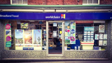 Broadland Travel in Market Place, North Walsham celebrates 25th anniversary. Pictures: Broadland Tra