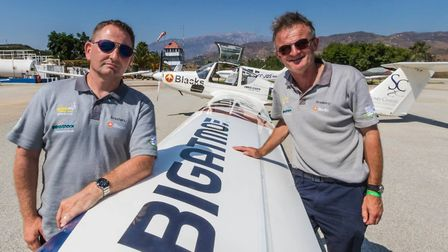Aerosparx pilots Guy Westgate and Rob Barsby are getting ready to put on a dazzling display at Blick