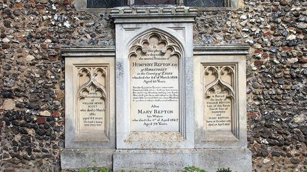 Humphry Repton's grave at Aylsham Church. Photo: Broadland District Council