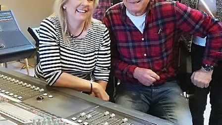 Samantha Elmhurst and Mike D'Abo at the recording of Mighty Quinn in support of Break charity's GoGo