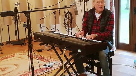 Mike D'Abo re-recording Might Quinn in Norfolk as part of Break's GoGoHares! project. Picture: COURT
