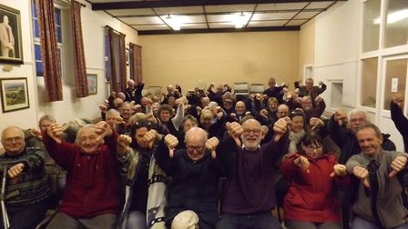 Thumbs down for Knapton homes at public meeting. Picture: Peter Kaye