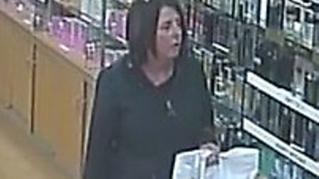 CCTV images of woman police want to speak to. Pictures: Norfolk police