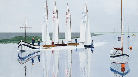 Towing to the Startline, by Toby Newman, of Wells-next-the-Sea. Photo: TOBY NEWMAN