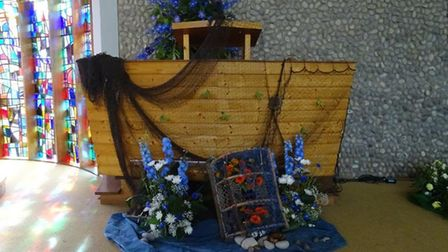 A previous flower festival at the church. Picture: courtesy of St Andrews Church, Sheringham
