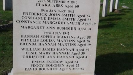 A new civilian war memorial has been erected at Sheringham Cemetery, Picture: supplied by Kelly Coop