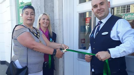 Specsavers North Walsham is officially open for business. The Mayor of North Walsham Sallie Stuckey