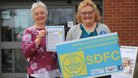 Sheringham Dementia Friendly Community chairman Janet Eastwood and secretary Liz Withington, who are