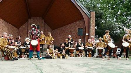 Dumisani African Drummers. Stalham fringe festival. Pictures: Supplied by Di Cornell