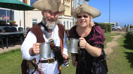 East Coast Pirates Stephen and Melanie Fishpool Photo: KAREN BETHELL
