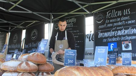 Artisan bread on sale at Cromer and Sheringham Crab and Lobster Festival Photo: KAREN BETHELL