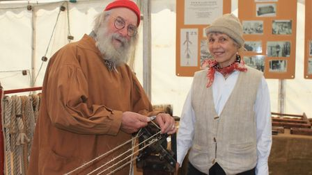 Rope-making in Cromer's heritage marqueePhoto: KAREN BETHELL