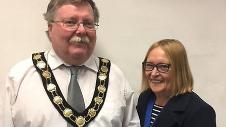 Councillor Barry Hester and Councillor Mary Seward. Picture: North Walsham Town Council
